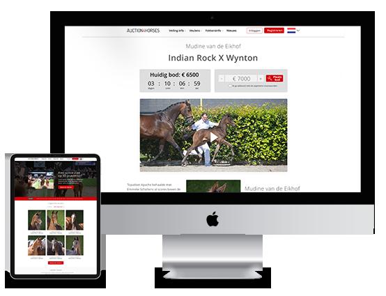 Paarden wereldwijd online veilen